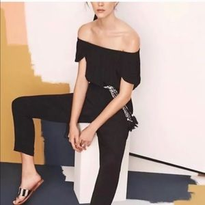 Nighttime Off Shoulder Black Jumpsuit XSP